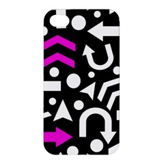 Right Direction   Magenta Apple Iphone 4/4s Hardshell Case by Valentinaart