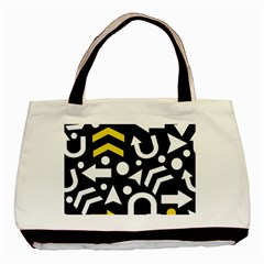 Right Direction   Yellow Basic Tote Bag by Valentinaart