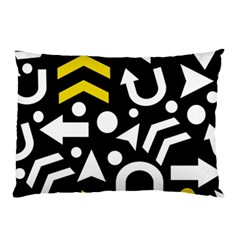 Right Direction   Yellow Pillow Case by Valentinaart