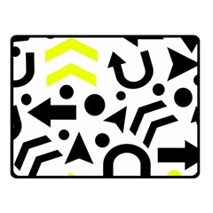 Yellow Right direction  Fleece Blanket (Small) by Valentinaart