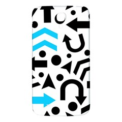 Cyan Right Direction Samsung Galaxy Mega I9200 Hardshell Back Case by Valentinaart
