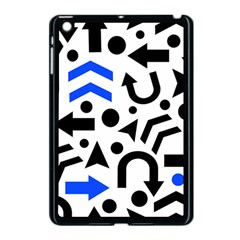 Blue Right Direction Apple Ipad Mini Case (black) by Valentinaart