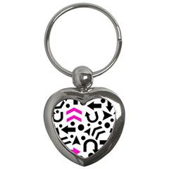 Magenta Right Direction Key Chains (heart)  by Valentinaart