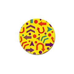 Yellow direction Golf Ball Marker by Valentinaart