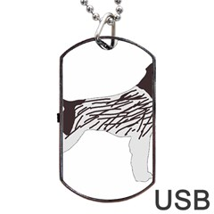 German Wirehaired Pointer Silo Color Dog Tag USB Flash (Two Sides)  by TailWags