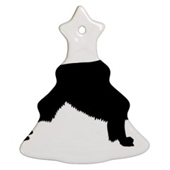 Irish Red White Setter Silo Black Christmas Tree Ornament (2 Sides) by TailWags
