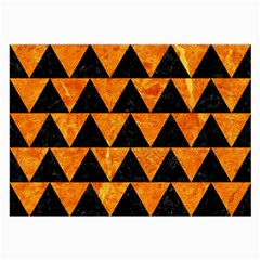 Triangle2 Black Marble & Orange Marble Large Glasses Cloth by trendistuff