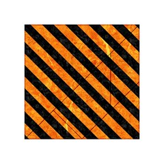 Stripes3 Black Marble & Orange Marble (r) Acrylic Tangram Puzzle (4  X 4 ) by trendistuff
