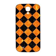 Square2 Black Marble & Orange Marble Samsung Galaxy S4 I9500/i9505  Hardshell Back Case by trendistuff