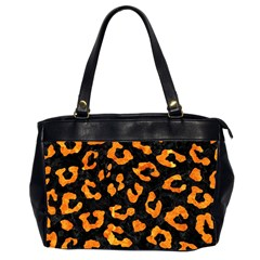 Skin5 Black Marble & Orange Marble (r) Oversize Office Handbag (2 Sides) by trendistuff