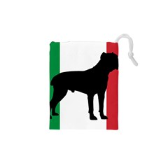 Cane Corso Silhouette Flag Italy Drawstring Pouches (XS)  by TailWags