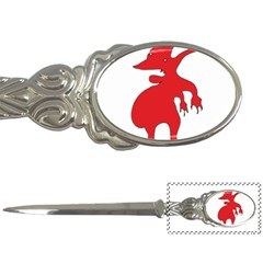 Grotesque Red Creature  Letter Openers by dflcprints