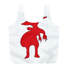 Grotesque Red Creature  Full Print Recycle Bags (l)  by dflcprints