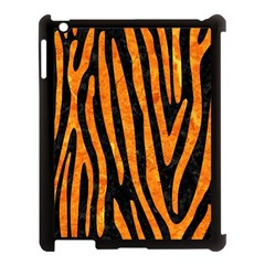 Skin4 Black Marble & Orange Marble (r) Apple Ipad 3/4 Case (black) by trendistuff