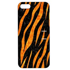Skin3 Black Marble & Orange Marble Apple Iphone 5 Hardshell Case With Stand by trendistuff