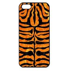 Skin2 Black Marble & Orange Marble (r) Apple Iphone 5 Seamless Case (black) by trendistuff
