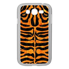 Skin2 Black Marble & Orange Marble Samsung Galaxy Grand Duos I9082 Case (white) by trendistuff