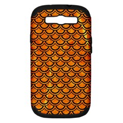 Scales2 Black Marble & Orange Marble (r) Samsung Galaxy S Iii Hardshell Case (pc+silicone) by trendistuff