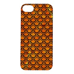 Scales2 Black Marble & Orange Marble (r) Apple Iphone 5s/ Se Hardshell Case by trendistuff
