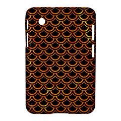 Scales2 Black Marble & Orange Marble Samsung Galaxy Tab 2 (7 ) P3100 Hardshell Case  by trendistuff