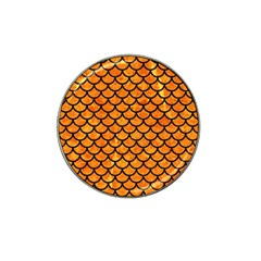 Scales1 Black Marble & Orange Marble (r) Hat Clip Ball Marker (4 Pack) by trendistuff