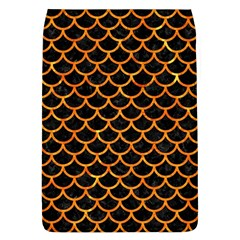 Scales1 Black Marble & Orange Marble Removable Flap Cover (l) by trendistuff