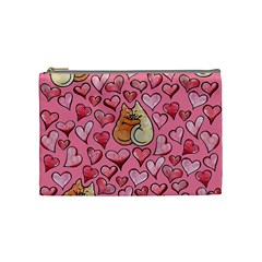 Cat Love Valentine Cosmetic Bag (medium)  by BubbSnugg