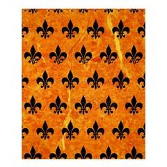 Royal1 Black Marble & Orange Marble Shower Curtain 60  X 72  (medium) by trendistuff