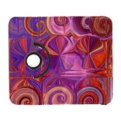 Candy Abstract Pink, Purple, Orange Galaxy S3 (flip/folio) by theunrulyartist