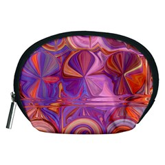 Candy Abstract Pink, Purple, Orange Accessory Pouches (medium)  by theunrulyartist