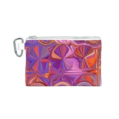 Candy Abstract Pink, Purple, Orange Canvas Cosmetic Bag (s) by theunrulyartist