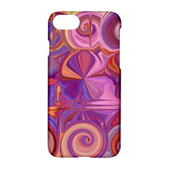 Candy Abstract Pink, Purple, Orange Apple Iphone 7 Hardshell Case by theunrulyartist