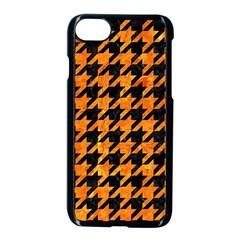 Houndstooth1 Black Marble & Orange Marble Apple Iphone 7 Seamless Case (black)