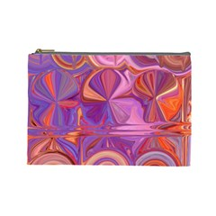 Candy Abstract Pink, Purple, Orange Cosmetic Bag (large)  by theunrulyartist