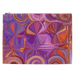 Candy Abstract Pink, Purple, Orange Cosmetic Bag (xxl)