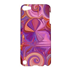 Candy Abstract Pink, Purple, Orange Apple Ipod Touch 5 Hardshell Case by theunrulyartist