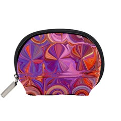 Candy Abstract Pink, Purple, Orange Accessory Pouches (small)  by theunrulyartist