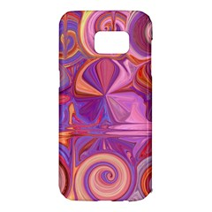 Candy Abstract Pink, Purple, Orange Samsung Galaxy S7 Edge Hardshell Case by theunrulyartist