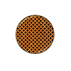 Circles3 Black Marble & Orange Marble Hat Clip Ball Marker (4 Pack) by trendistuff