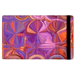 Candy Abstract Pink, Purple, Orange Apple Ipad 3/4 Flip Case by theunrulyartist