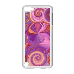 Candy Abstract Pink, Purple, Orange Apple Ipod Touch 5 Case (white) by theunrulyartist