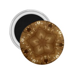 Elegant Gold Brown Kaleidoscope Star 2 25  Magnets by yoursparklingshop