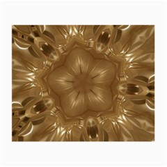 Elegant Gold Brown Kaleidoscope Star Small Glasses Cloth by yoursparklingshop