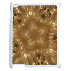 Elegant Gold Brown Kaleidoscope Star Apple Ipad 2 Case (white) by yoursparklingshop