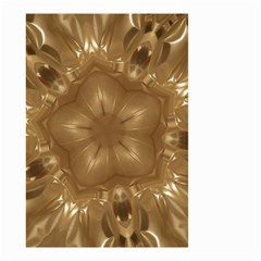 Elegant Gold Brown Kaleidoscope Star Small Garden Flag (two Sides) by yoursparklingshop