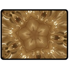 Elegant Gold Brown Kaleidoscope Star Double Sided Fleece Blanket (Large)  by yoursparklingshop