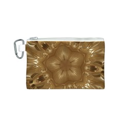 Elegant Gold Brown Kaleidoscope Star Canvas Cosmetic Bag (s) by yoursparklingshop