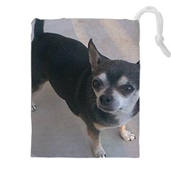 Full 2 Chihuahua Drawstring Pouches (XXL) by TailWags