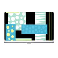 Blue Collage Business Card Holders by Valentinaart