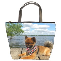 Pom Pup On Dock Bucket Bags by TailWags